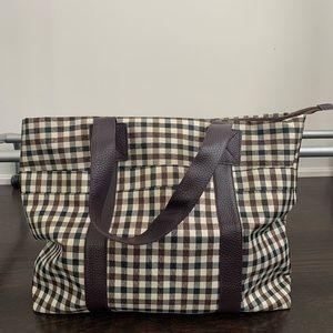 NWOT Nylon Plaid Shoulder Bag
